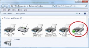 PDF creator installs as a printer so that it can be used by any application to create a pdf document
