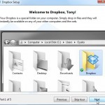 Dropbox Tutorial Screen 1