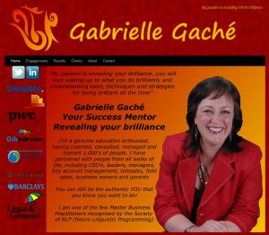 Website for Peoples Geek client Gabriell Gaché