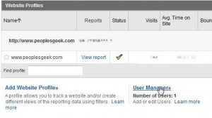 Locate the user manager option